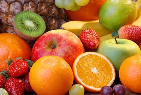 цветные фрукты