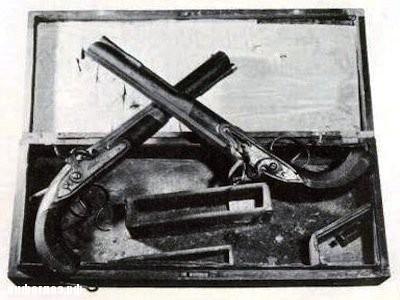Пистолеты с дуэли Гамильтона и Бёрра