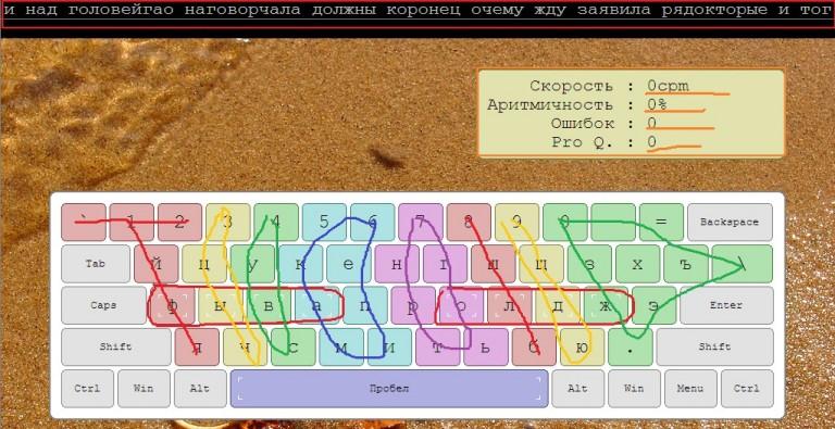 составе печатать вслепую онлайн тренажер Светлана