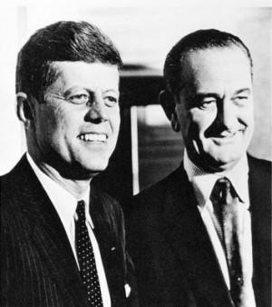 Джон Кеннеди и Линдон Джонсон
